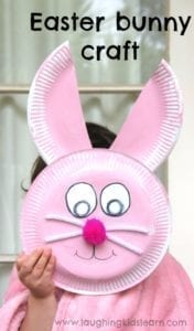 paper plate bunny easter craft - acraftylife.com