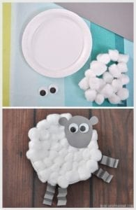 Cotton Ball Lamb Easter Craft - acraftylife.com