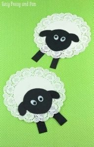 Doily Lamb Easter Craft - acraftylife.com
