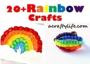 20 plus rainbow crafts - acrafytlife.com