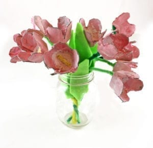 tulip craft - flower craft - kids crafts - acraftylife.com