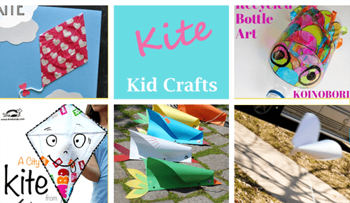 kite crafts for kids- spring kid crafts- kid crafts - acraftylife.com #preschool
