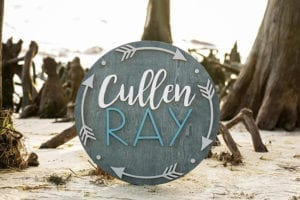 arrow name sign - arrow nursery ideas - acraftylife.com