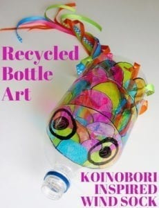recycled bottle kite - kite crafts for kids- spring kid crafts- kid crafts - acraftylife.com #preschool