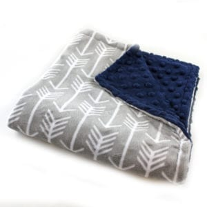 gray arrow lovey blanket - arrow nursery ideas - acraftylife.com
