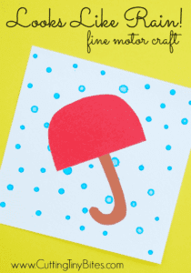 Looks like rain- rainy day craft - spring craft- kids craft - crafts for kids -acraftylife.com