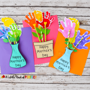 Happy Mother's Day Vase - mother's day craft - flower kid crafts - acraftylife.com #preschool #craftsforkids #crafts #kidscraft