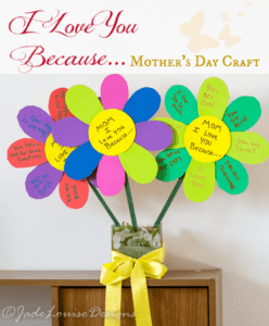 Because I Love You Flower- mother's day craft - flower kid crafts - acraftylife.com #preschool #craftsforkids #crafts #kidscraft