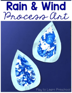 Rain and Wind Process Art - rainy day craft - spring craft- kids craft - crafts for kids -acraftylife.com