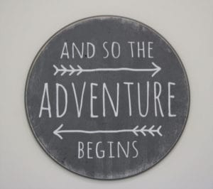 arrow adventure sign - arrow nursery ideas - acraftylife.com