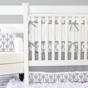 arrow crib bedding - arrow nursery ideas - acraftylife.com
