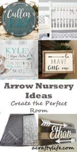 arrow nursery ideas - boy arrow room - acraftylife.com