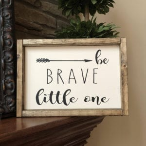 be brave arrow sign- arrow nursery ideas - acraftylife.com