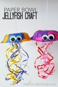 jellyfish craft - ocean kid craft - crafts for kids- kid crafts - acraftylife.com #preschool
