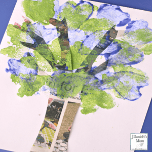 recycle tree - Earth Kid Craft - Earth craft for kids – recycle craft for kids - spring craft - acraftylife.com #preschool #craftsforkids #crafts #kidscraft