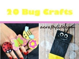 bug crafts - insect crafts - kids craft - acraftylife.com