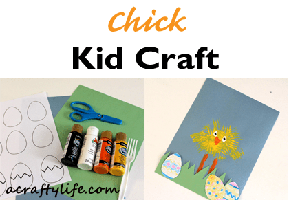 chick craft - easter craft - spring craft - crafts for kids- kid crafts - acraftylife.com #preschool