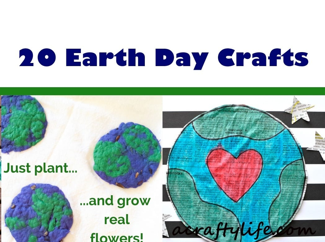 earth day crafts - www.acraftylife.com