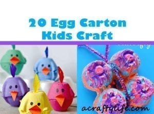 egg carton craft - recycled craft - kid crafts - acraftylife.com #preschool #craftsforkids #crafts #kidscraft