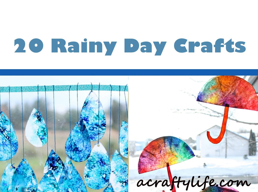 rainy day crafts - rain craft - april showers - acraftylife.com