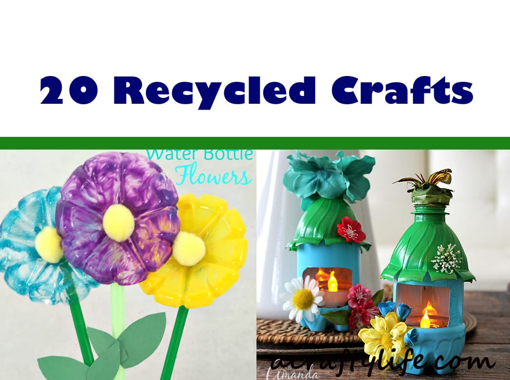 recycled kid crafts - acraftylife.com #preschool #craftsforkids #crafts #kidscraft