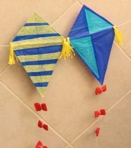 Kite craft with curious george- kite crafts for kids- spring kid crafts- kid crafts - acraftylife.com #preschool