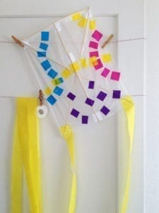 lets go fly a kite diy - craft - kite crafts for kids- spring kid crafts- kid crafts - acraftylife.com #preschool