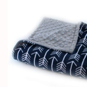 navy arrow lovey blanket - arrow nursery ideas - acraftylife.com