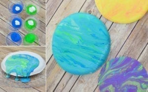 marble earth - Earth Kid Craft - Earth craft for kids – recycle craft for kids - spring craft - acraftylife.com #preschool #craftsforkids #crafts #kidscraft