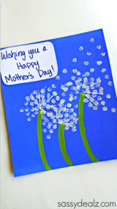 Wishing You Card- mother's day craft - flower kid crafts - acraftylife.com #preschool #craftsforkids #crafts #kidscraft