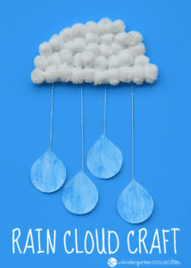 rain cloud - rainy day craft - spring craft- kids craft - crafts for kids -acraftylife.com