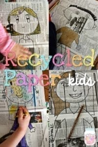 recycled paper kid - Earth Kid Craft - Earth craft for kids – recycle craft for kids - spring craft - acraftylife.com #preschool #craftsforkids #crafts #kidscraft