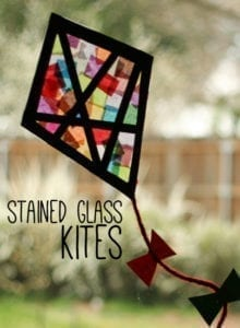 stain glass kite craft- craft - kite crafts for kids- spring kid crafts- kid crafts - acraftylife.com #preschool