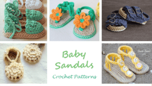 baby sandal - baby shoes crochet pattern - baby gift #crochet #baby