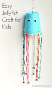 cup jellyfish kid craft - jellyfish kids craft - ocean kids craft - crafts for kids- kid crafts - acraftylife.com #preschool