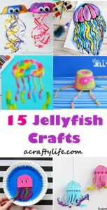 roundup jellyfish kid craft - jellyfish kids craft - ocean kids craft - crafts for kids- kid crafts - acraftylife.com #preschool