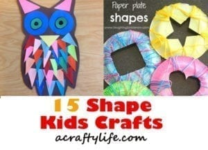 shape kids crafts - crafts for kids- kid crafts - acraftylife.com #preschool