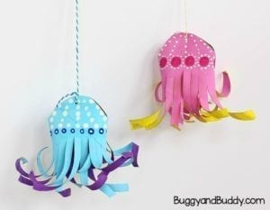 paper roll jellyfish kid craft - jellyfish kids crafts - ocean kids craft - crafts for kids- kid crafts - acraftylife.com #preschool
