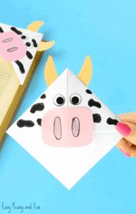 bookmark cow kid craft - cow kid craft - farm kid crafts - crafts for kids- acraftylife.com #preschool #craftsforkids #kidscrafts