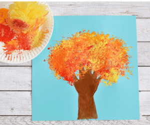 25 Fall Tree Kid Crafts Celebrate Autumn Color A Crafty Life