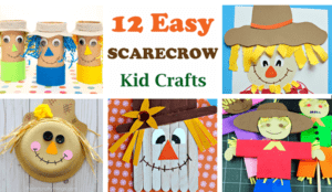 scarecrow crafts for kids - fall kid craft - autumn crafts for kids- #preschool #craftsforkids #kidscrafts