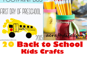 back to school kids crafts - crafts for kids- acraftylife.com #preschool