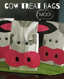 tread bag cow kid craft - cow kid craft - farm kid crafts - crafts for kids- acraftylife.com #preschool #craftsforkids #kidscrafts