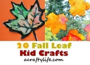 autumn kid craft - fall kid crafts crafts for kids- acraftylife.com #preschool #craftsforkids #kidscrafts