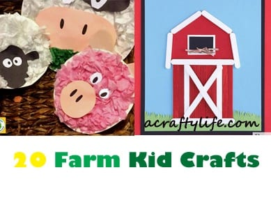 farm kid crafts - farm crafts for kids - farm theme - animal crafts #preschool #craftsforkids #kidscrafts