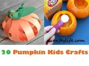 pumpkin kid crafts- fall kid craft - autumn crafts for kids- acraftylife.com #preschool #craftsforkids #kidscrafts