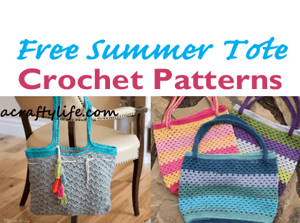 Tote bag Crochet Patterns – free crochet pattern - A Crafty Life