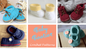 Baby Booties Crochet pattern - A Crafty Life #crochet #crochetpattern #baby #babygift