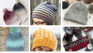 Crochet beanie patterns - Crochet hat pattern - womens hat- Make a winter hat - A Crafty Life #crochet #crochetpattern #crochethat