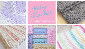 crochet baby blanket pattern- A Crafty Life #crochet #crochetpattern #baby #babygift
